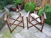 Pair of Directors Chairs (Frame only)
