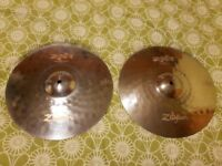 Zildjian ZXT Titanium Hi hats in excellent condition