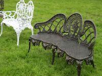 Cast Aluminium Seats (garden furniture hawthorns)
