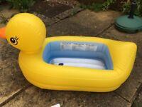 Inflatable Duck Baby Bath