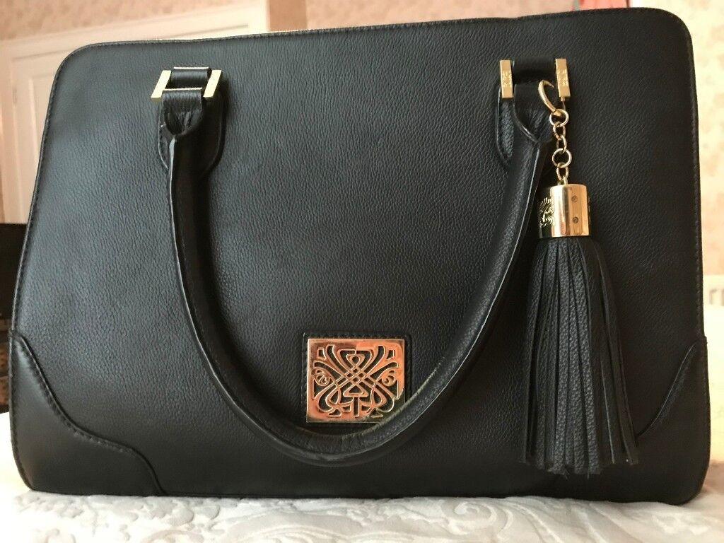 Las Black Biba Leather Handbag