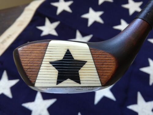 Antique Hickory *BLACK STAR* Fancy Face WOOD F940, golf club