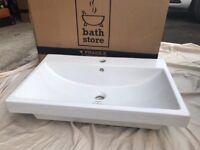 Bathstore White Euro Duo Basin 700mm. Brand New. Boxed