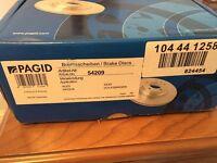 Pagid Brake Discs x 2 / Brake pads front and rear - Audi, Seat, VW,