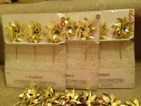 15 gold pinwheels - wedding decoration