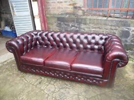 CHESTERFIELD SOFA AND CHAIRS WANTED TO BUY IN LEATHER WITH DEEP BUTTONS. FOR A BAR/BISTRO.