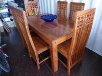 DINING TABLE & SIX (6) CHAIRS