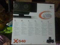Logitech X-540 5.1 Surround Sound Speaker System With Subwoofer X540