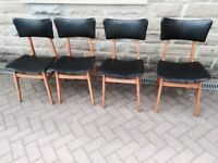 FOUR RETRO STYLE CHAIRS