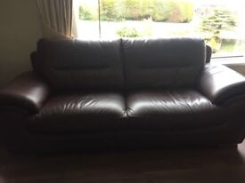 2 & 3 seater sofas ... Brown leather