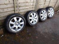 Vw Alloy wheels + tyres.