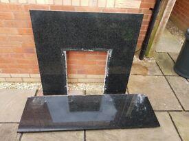 Black Granite fire surround and hearth