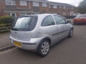 Vauxhall corsa silver three door very good condition for sale