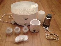 Tommee Tippee Electric Steriliser, bottle warmer, portable bottle flask + 3 New bottles +lids £20ono