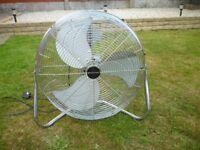Bionaire 19inch High Velocity Air Circulation Silver Fan