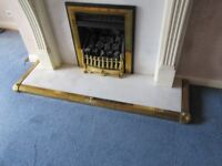 Heavy Brass Low-profile Fireplace Hearth Adjustable Fender
