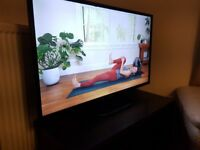 """LG 42"""" inch 1080p HD LED TV - mint - stand & remote"""