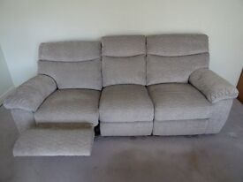 Fishpools California 2 and 3 seat recliner sofas with storage footstool.