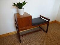 Vintage Retro Mid Century Teak G Plan Telephone / Hall Table