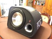 """12"""" FLI 1200W ACTIVE SUBWOOFER FREE WIRING KIT PORTED ENCLOSURE CAR AUDIO STEREO BASS SOUND SUB AMP"""