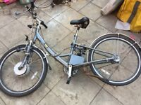 electric no tax no petrol no liscence up to 35 miles aluminum foldable electric disk brake bike