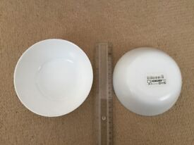 New - 70 white breakfast/soup/ice cream bowls -all for £15