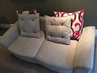 Designer Sofa & Footstool/Scatter Cushions