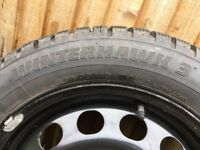 Winter Tyres for VW Golf/Audi A3 205/55 R16 94H and Snow Chains.