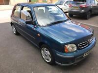 2001 Nissan Micra 1.0 Petrol, Low Miliage, 12 Months Mot