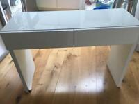 Habitat dressing table or desk with smooth catch drawers. Damaged left leg.