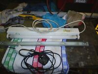 2 x strip lights 240v ideal trailer tent or camping both work