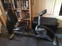 Roger black seated exercise bike