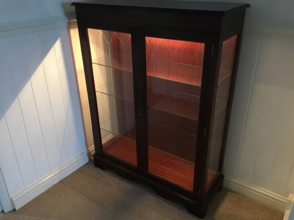 Dark Wood Display Cabinet Lovely Furniture