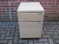 filing cabinet, in light maple, nice condition