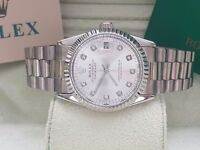 New Swiss Rolex Date Just Silver for sale!£35!Bargain!