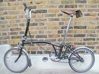 Brompton Folding Bike With Brooks Saddle & Bag, Plus Accessories
