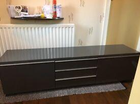 Ikea BESTA burs high gloss tv unit