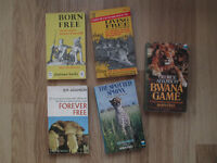 Five Born Free series books by Joy Adamson for sale in Severn Beach, Bristol