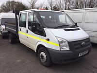 2008 08 ford transit 100 t350 double cab tipper no vat