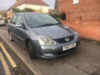 Honda Civic, 1.6 petrol, mot 1 month, the car drives well, leather inside, good engine and gearbox