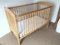 John Lewis Luna cot with mattress and instructions