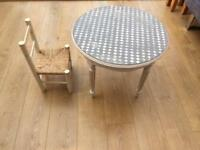 Lovely shabby chic mini chair and table