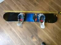 160 cm K2 spitfire snowboard flow bindings