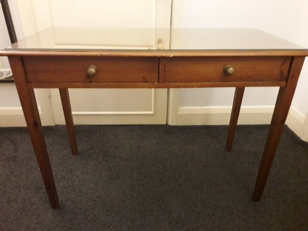 Marvelous Mahogany Desk Console Table With A Removable Glass Top And Two Drawers Ealing W7 In Ealing London Gumtree Frankydiablos Diy Chair Ideas Frankydiabloscom