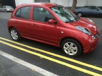 NISSAN MICRA 2007, 5 DOORS VERY LOW MILEAGE 3 MONTHS WARRANTY, 12 MONTHS MOT IN EXCELLENT CONDITION