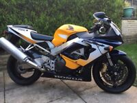 HONDA CBR 929 RR Fireblade Yellow / Blue 25,827 Miles FSH 2 Prev Owners