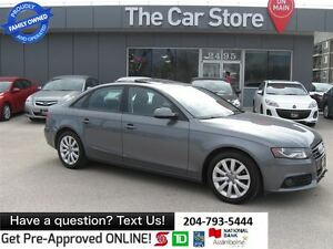 2012 Audi A4 2.0T LOCAL -AWD LEATHER SUNROOF BLUETOOTH