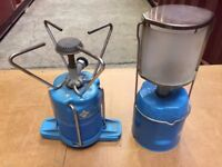 Gas Lamp and Gas Stove -vintage