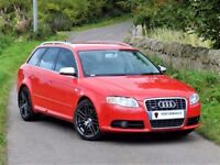 AMAZING (2005) AUDI S4 AVANT 4.2 QUATTRO AUTO ESTATE - HUGE SPEC - BRILLIANT RED RECARO SEATS