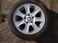 BMW 1 series e87 e82 7 Spoke alloy wheel with tyre 6mm tread 6769402 205/55 r16